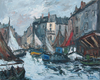 Title: HONFLEUR , Size: 32 x 40 , Medium: Oil on Canvas
