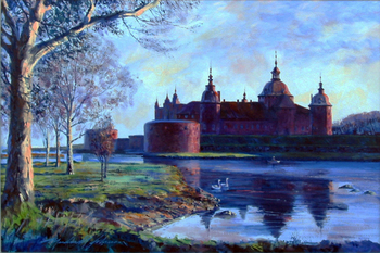 Title: KALMAR CASTLE , Size: 20 x 30 , Medium: Oil on Canvas