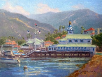 Title: CATALINA REFLECTION , Size: 9 x 12 , Medium: Oil on Panel