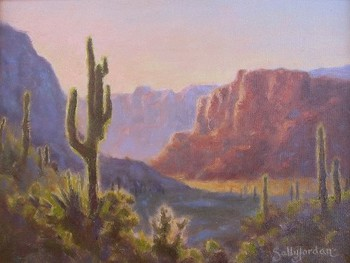 Title: DESERT SERENADE , Size: 9 x 12 , Medium: Oil on Panel
