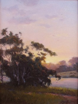 Title: TWILIGHTS LAST GLEAMING , Size: 16 x 12 , Medium: Oil on Panel