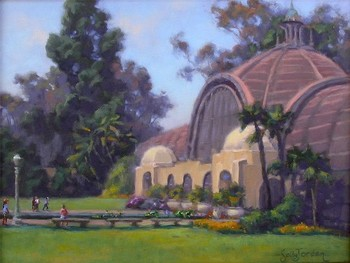 Title: A DAY IN THE PARK , Size: 12 x 16 , Medium: Oil on Panel