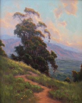 Title: CALIFORNIA SPRING , Size: 20 x 16 , Medium: Oil on Canvas