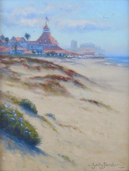 Title: DEL CORONADO ACCROSS DUNES , Size: 12 x 9 , Medium: Oil on Canvas