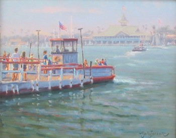 Title: FERRYING ACROSS , Size: 11 x 14 , Medium: Oil on Canvas