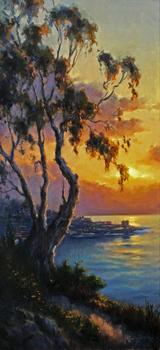 Title: Light on La Jolla , Size: 30 x 15 , Medium: Oil on Canvas