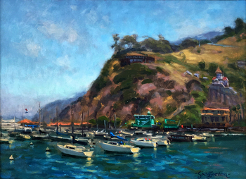 Title: Harbor Companions , Size: 12 x 16 , Medium: Oil on Panel