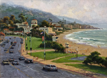 Title: Downtown Laguna , Size: 16 x 20 , Medium: Oil on Panel