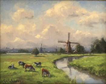 Title: Green Pastures , Size: 8 x 10 , Medium: Oil on Panel