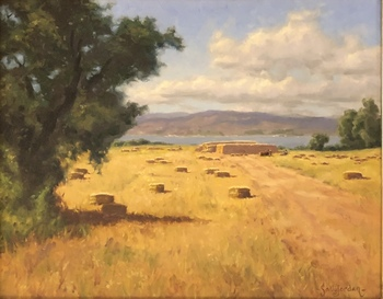 Title: Summer Gold , Size: 16 x 20 , Medium: Oil on Canvas