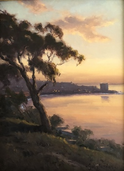 Title: La Jolla Twilight , Size: 12 x 9 , Medium: Oil on Panel