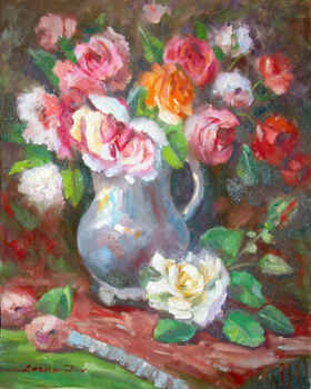 Title: ROSES , Size: 20 x 16 , Medium: Oil on Canvas