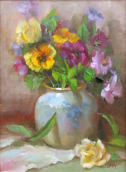 Title: SPRING BOUQUET , Size: 12 x 9 , Medium: Oil on Canvas