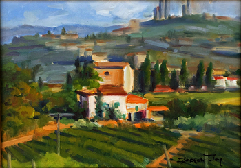 Title: Tuscan Morning , Size: 9 x 12 , Medium: Oil on Canvas