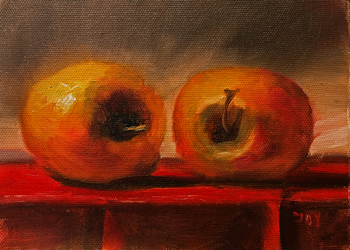 Title: Apples , Size: 5 x 7 , Medium: Oil on Panel