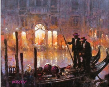 Title: LIGHTS OF VENICE , Size: 16 x 20 , Medium: Oil on Canvas