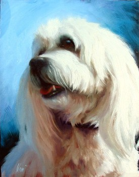 Title: LULU , Size: 14 x 11 , Medium: Oil on Canvas