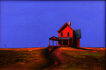 Title: Red House III , Size: 8 x 10 , Medium: Acrylic