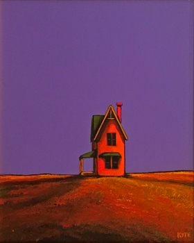 Title: The Gruber House , Size: 10 x 8 , Medium: Acrylic