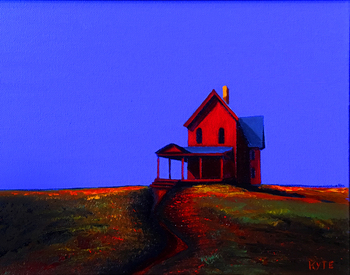 Title: The Red House III , Size: 8 x 10 , Medium: Acrylic