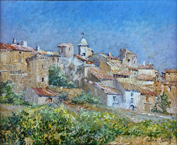 Title: Village of Provence , Size: 15 x 18 , Medium: Oil on Canvas