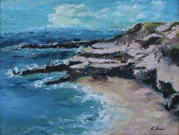 Title: SEASCAPE , Size: 12 x 16 , Medium: Oil on Canvas