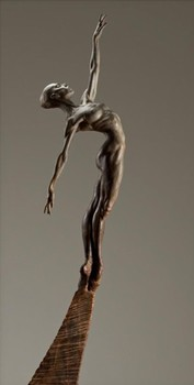 Title: ALLONGE FEMALE HALF LIFE , Size: 64 x 7 x 13 , Medium: Bronze