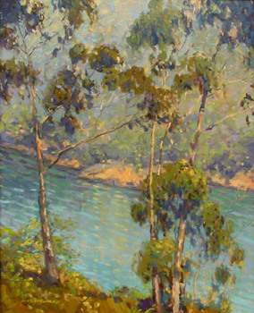 Title: EUCALYPTUS, DIXON LAKE , Size: 24 x 18 , Medium: Oil on Canvas