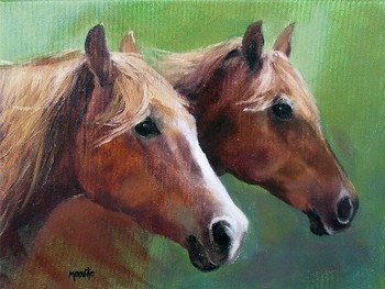 Title: SISTERS , Size: 12 x 16 , Medium: Oil on Canvas