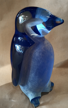 Title: Penquin , Size: 14 high , Medium: Poly Resin