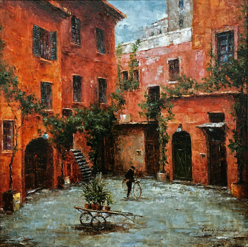 Title: Tuscan Afternoon , Size: 24 x 24 , Medium: Oil on Canvas