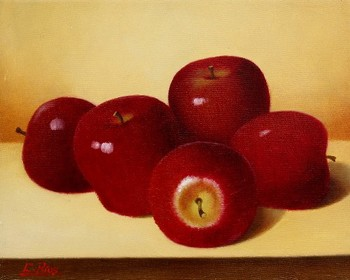 Title: APPLES , Size: 8 x 10 , Medium: Oil on Panel