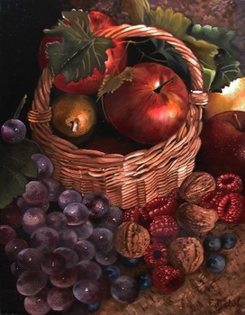 Title: STILL LIFE , Size: 7 x 9 , Medium: Oil on Panel