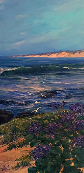 Title: Our Beautiful Coast , Size: 16 x 8 , Medium: Oil on Panel